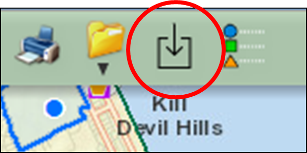 Users can now select the Data Download icon in the toolbar to download GIS data
